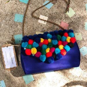 Handbags - Upcycled Pom Pom Purse